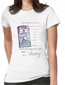 There is a Song, Doctor Who, Husbands of River Song Womens Fitted T-Shirt