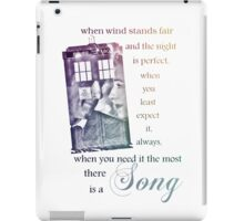 There is a Song, Doctor Who, Husbands of River Song iPad Case/Skin