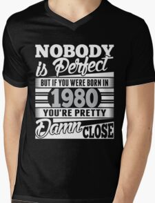 1980 Mens V-Neck T-Shirt