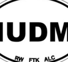 IUDM White Oval Sticker