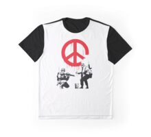 Banksy Soldiers Graphic T-Shirt