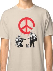Banksy Soldiers Classic T-Shirt
