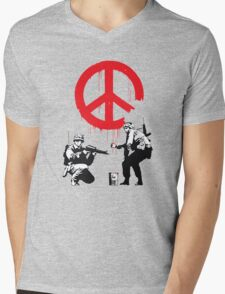 Banksy Soldiers Mens V-Neck T-Shirt
