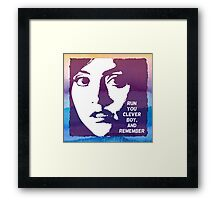 Run You Clever Boy, and Remember. Doctor Who Framed Print
