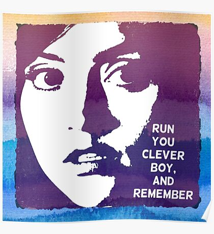 Run You Clever Boy, and Remember. Doctor Who Poster