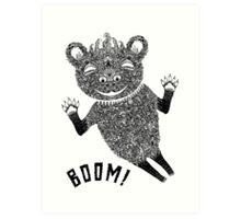 Boom Bear Art Print