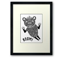 Boom Bear Framed Print