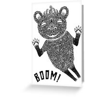 Boom Bear Greeting Card