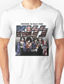 FREEDOM TO ROCK TOUR - KISS Unisex T-Shirt