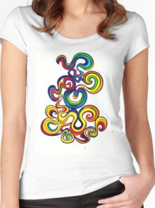 Psychedelic Smoke Women's Fitted Scoop T-Shirt