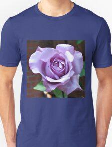 Sunlit Blue Moon Rose Unisex T-Shirt