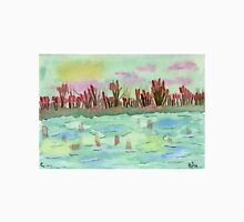 Sunset on the Pond - Watercolor Painting Unisex T-Shirt