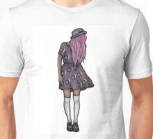 Dark Hipster Girl Unisex T-Shirt
