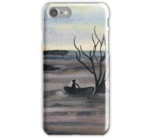 Abstract Landscape in cold colors - Watercolor Painting iPhone Case/Skin