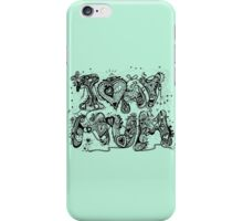I Love My Mum Aussie Tangle in Black Transparent iPhone Case/Skin