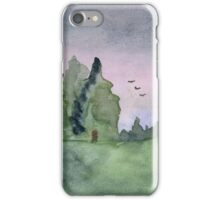Pines Tress - Watercolor Painting iPhone Case/Skin