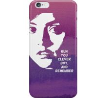 Run You Clever Boy, and Remember. Doctor Who iPhone Case/Skin