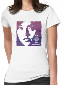 Run You Clever Boy, and Remember. Doctor Who Womens Fitted T-Shirt