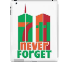 7-11 Never Forget iPad Case/Skin