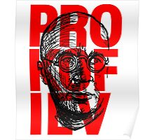 Prokofiev in red and black Poster