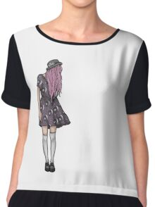 Pale Hipster Girl Chiffon Top