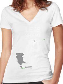 Let's Shoot Women's Fitted V-Neck T-Shirt