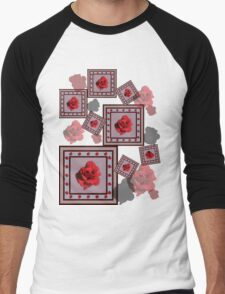Red Rose Men's Baseball ¾ T-Shirt