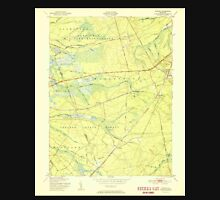 USGS TOPO Map New Jersey NJ Whiting 254981 1951 24000 Unisex T-Shirt