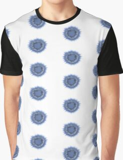 Blue Flower Splotch Graphic T-Shirt