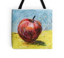 Red apple - Oil pastel painting Tote Bag