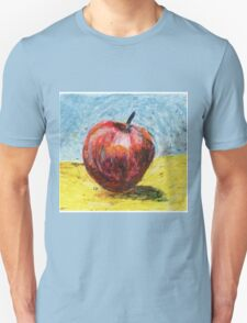 Red apple. Oil pastel painting T-Shirt