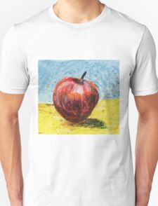 Red apple. Oil pastel painting Unisex T-Shirt