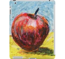 Red apple. Oil pastel painting iPad Case/Skin