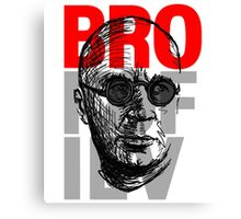 Brokofiev in red, gray and black Canvas Print