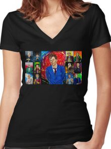 The Doctor of the Universe - The Hero Women's Fitted V-Neck T-Shirt
