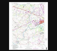 USGS TOPO Map New Jersey NJ Raritan 254815 1955 24000 Unisex T-Shirt