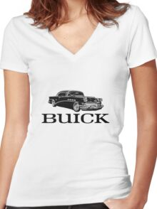 Buick Car Women's Fitted V-Neck T-Shirt