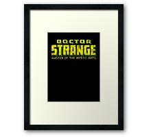 Doctor Strange - Classic Title - Dirty Framed Print