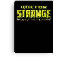 Doctor Strange - Classic Title - Dirty Canvas Print