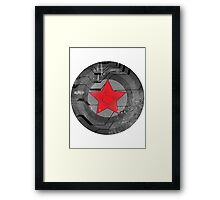 Winter Solider Shield Framed Print