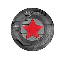Winter Solider Shield Photographic Print