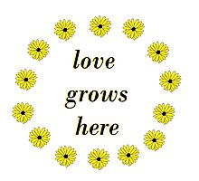 Love Grows Here Photographic Print
