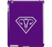 Uterus Hero Lavendar Dark iPad Case/Skin