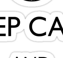 Keep Calm and Play Dead Sticker