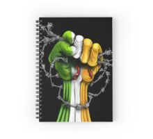 Irish Freedom Fist  Spiral Notebook