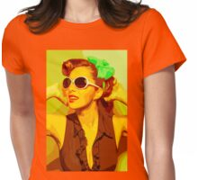 Timeless Vintage Girl Womens Fitted T-Shirt