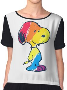 Snoopy Colorful Chiffon Top