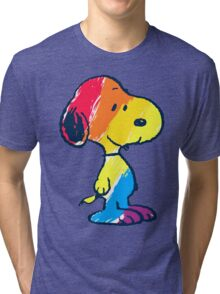 Snoopy Colorful Tri-blend T-Shirt