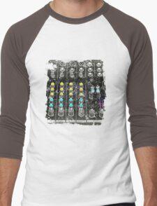 """""""Grunge Mixer"""" Men's Baseball ¾ T-Shirt"""