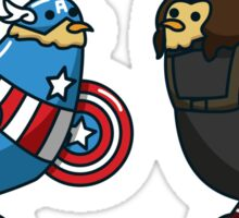 Capitaine Poulet et Buck Buck Bucky Sticker